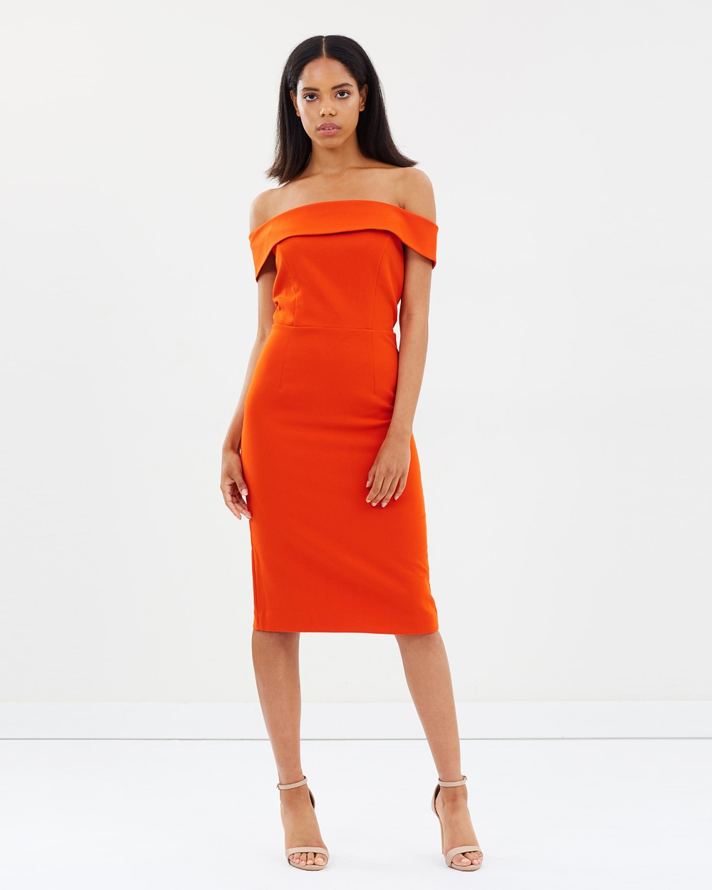 Ivy & Oak Carmen Cocktail Dress Dresses Pumpkin Red Carmen Cocktail Dress