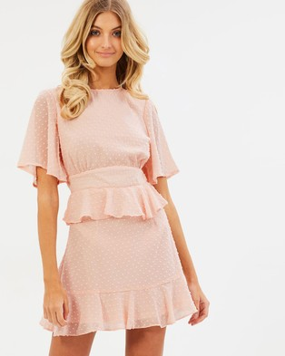 Atmos & Here – Briana Ruffle Dress Nude Pink