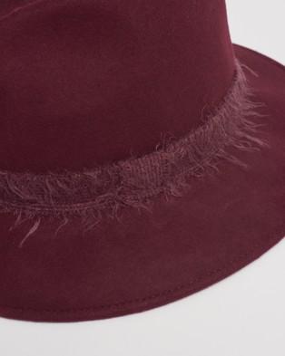 Kate & Confusion Florentine Fedora - Hats (Wine)