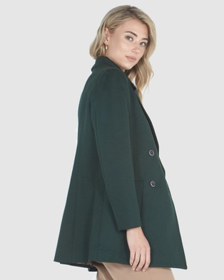 Privilege Double Breasted Blazer - Blazers (Moss)