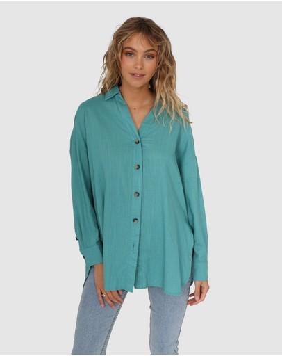 Lost In Lunar Delilah Shirt Jade