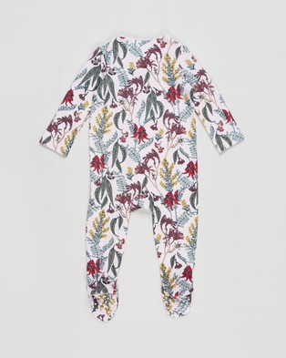 Cotton On Baby The Long Sleeve Zip Romper   Babies - Longsleeve Rompers (Lavender Fog & Sharon Floral)