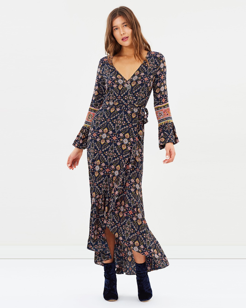 Tigerlily Zareen Maxi Dress Dresses Indigo Zareen Maxi Dress