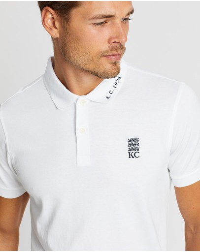 Kent And Curwen Embroidered Detail Polo Shirt White