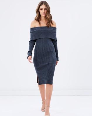 Sportscraft – Signature Naomi Knit Dress – Dresses (Grey Melange)