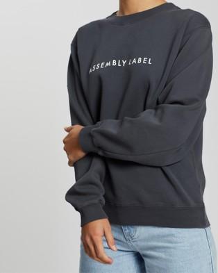 Assembly Label Logo Fleece - Sweats (Charcoal)
