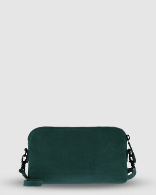 Cobb & Co Kendra Leather Crossbody - Handbags (Emerald)