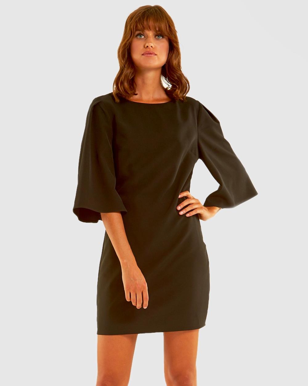 Amelius - Divine Shift Dress Dresses (Black)