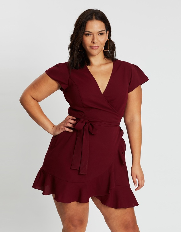 Atmos&Here Curvy - MAGENTA DRESS