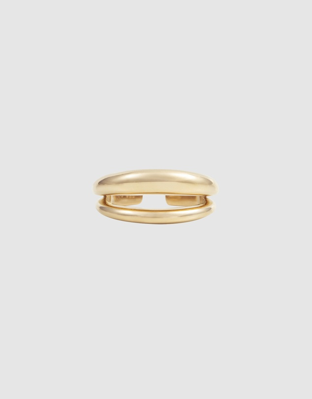 Women 14K Gold Vermeil Double Dome Ring