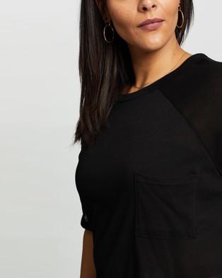 Atmos&Here Curvy Amanda Oversized T Shirt - T-Shirts & Singlets (Black)