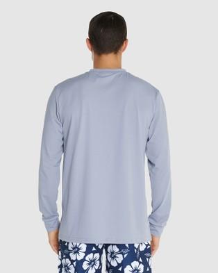 Okanui Logo Long Sleeve Rash Shirt - Swimwear (Grey)