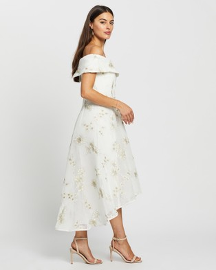 Montique Alex Dress - Dresses (Ivory & Gold)
