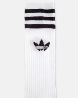adidas Originals Solid Crew Socks - Underwear & Socks (White & Black)