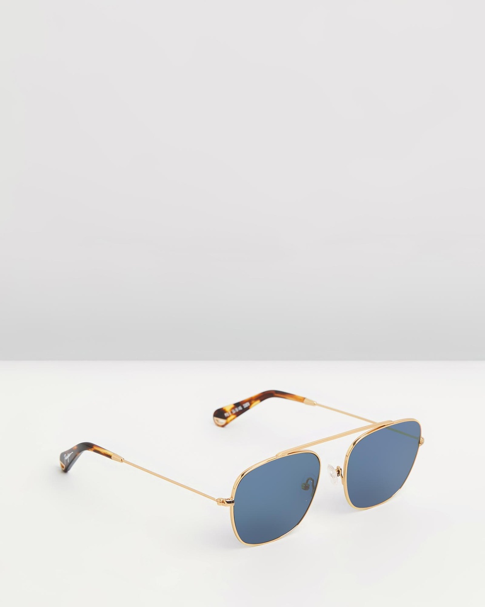 Pacifico Optical South 2 Square Vintage Gold with Polarised Blue Lens