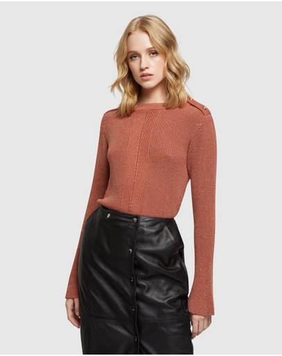 Oxford Claudine Cable Knit Copper