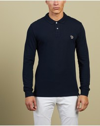PS by Paul Smith - Slim Fit Zebra Long Sleeve Polo Shirt