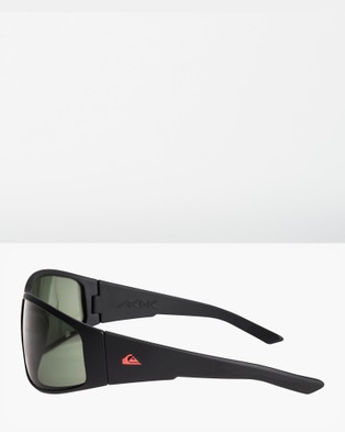 Quiksilver Mens AKDK Polarised Floatable Sunglasses - Sunglasses (MATTE BLACK/GREEN PO)