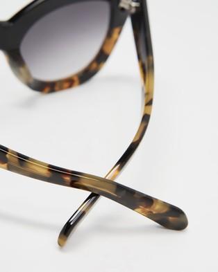 Karen Walker Northern Lights - Sunglasses (Black, Crazy Tort)