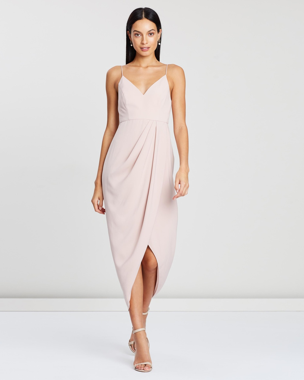 Shona Joy Cocktail Draped Maxi Dress Bridesmaid Dresses Ballet Cocktail Draped Maxi Dress