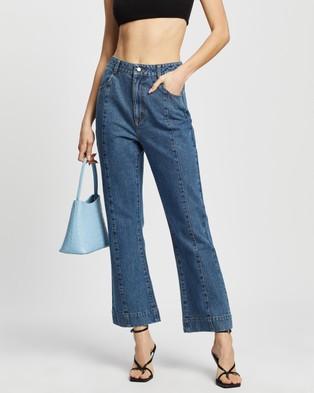 Dazie Outlaw Kick Flare Jeans - Slim (Blue Wash)