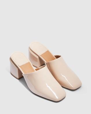 cherrichella Saxon Mules - Heels (Nude)
