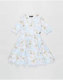 Rock Your Kid - Unicorn Clouds SS Waisted Dress - Kids