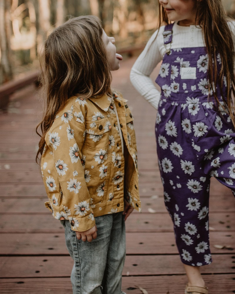 Goldie + Ace THE ICONIC EXCLUSIVE Vintage Wash Daisies Denim Jacket Babies Kids jacket Yellow Babies-Kids Australia