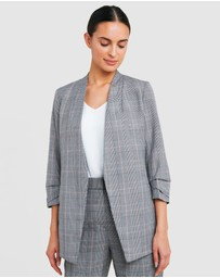 Forcast - Wilma Collarless Check Blazer