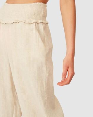 Cotton On Body Shirred Waist Beach Pants - Swimwear (Natural)