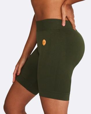 Nicky Kay Seamless Bike Shorts - Shorts (Khaki)