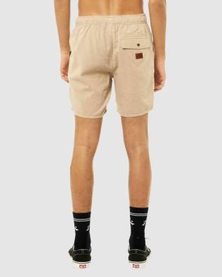 Rusty Overtone Elastic Linen Short Chino Shorts HMS