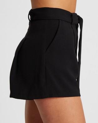 Tussah Soraya Shorts - High-Waisted (Black)