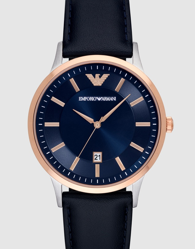 Emporio Armani - Blue Men's Analogue Watch