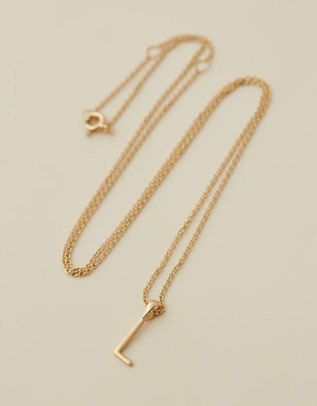 Women Initial Necklace - L
