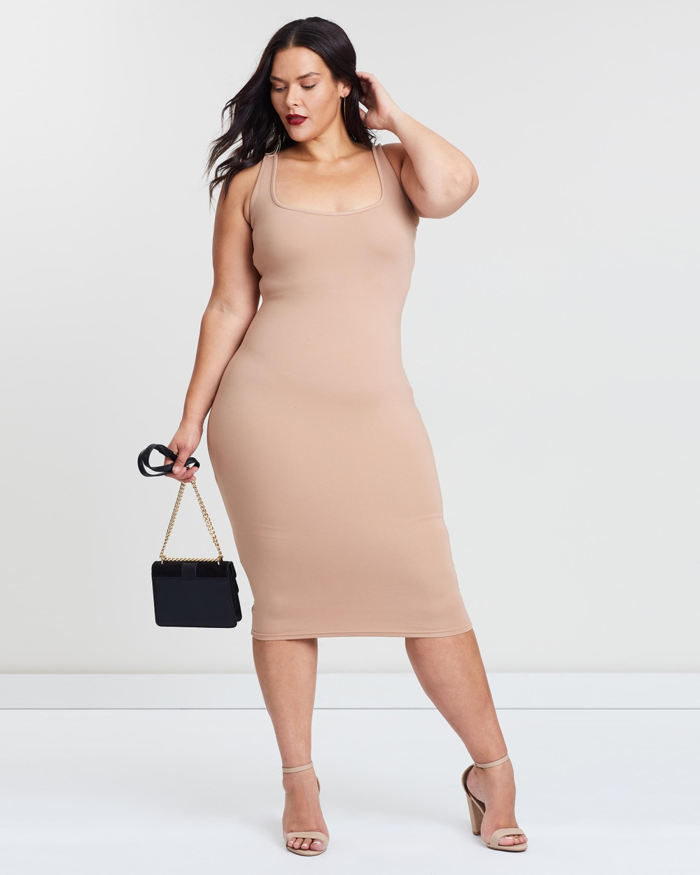 Photo of Atmos & Here Curvy Nude Keeks Body-Con Dress - buy Atmos & Here Curvy dresses on sale online