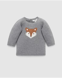 Purebaby - Little Fox Jumper - Babies