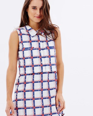 Ryder – Cleo Checked Two Piece Dress Multi