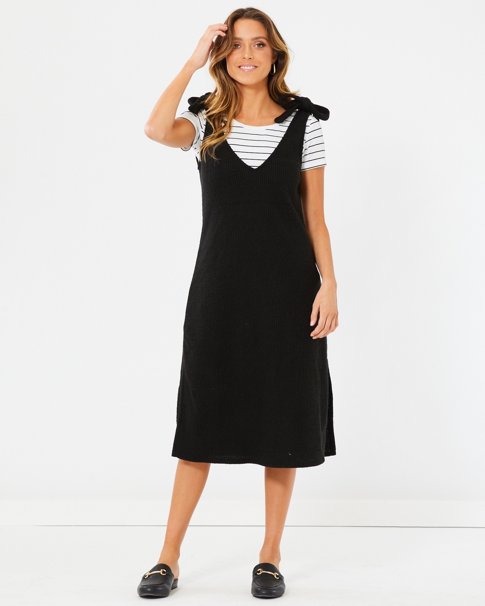 Calli Lilla Dress Dresses Black Knit Lilla Dress