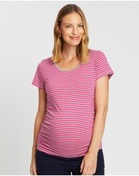 Angel Maternity - Maternity 2 Pack Basic Cotton Tee T-Shirt Combo