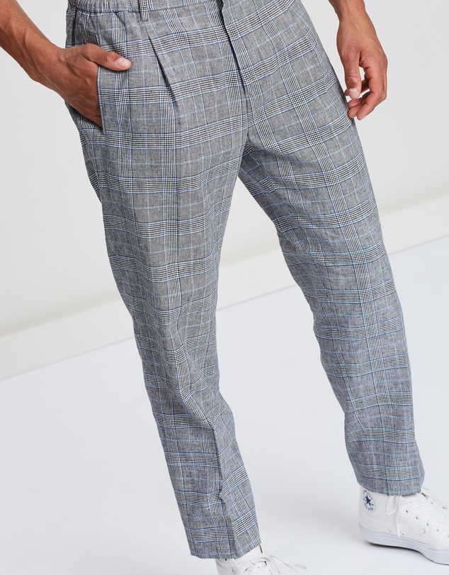 Scotch & Soda - Pleated Check Trousers