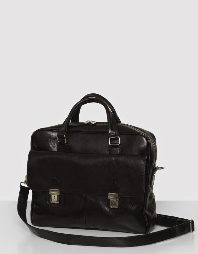Men The Toronto Leather Briefcase