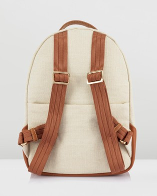 Lipault Paris Novelty Collection Linen Backpack Small - Backpacks (White)