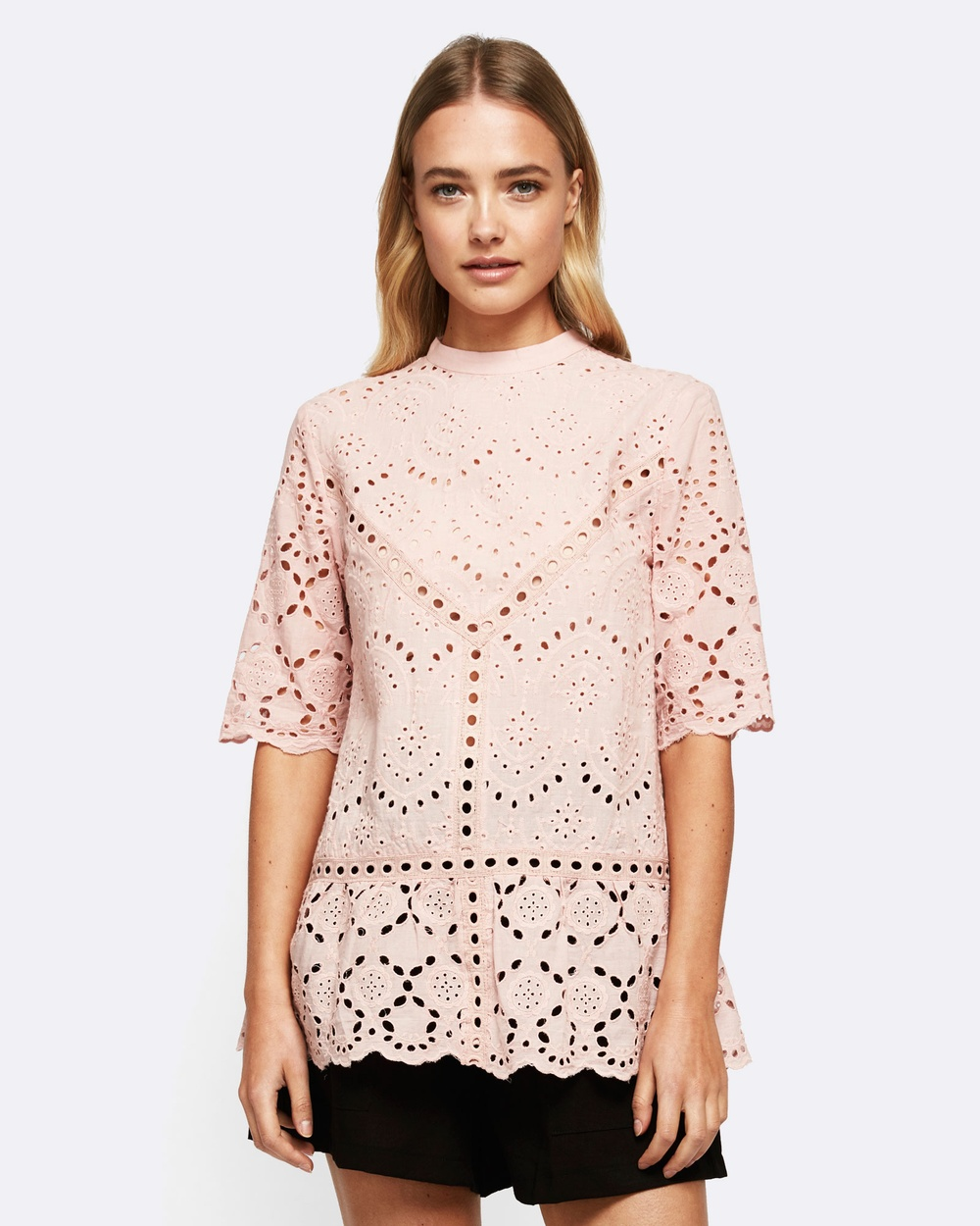 MVN Summer Bloom Lace Top Tops pink Summer Bloom Lace Top