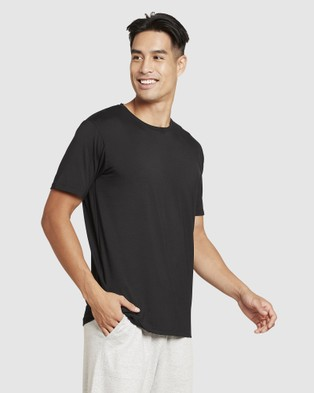 Boody Organic Bamboo Eco Wear - 4 Pack Crew Neck T Shirt - Short Sleeve T-Shirts (Black + White) 4 Pack Crew Neck T-Shirt