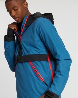 Yuki Threads Staten Anorak - Coats & Jackets (Blue Sapphire & Black )