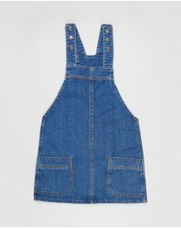 Free by Cotton On - Denim Pinafore - Teens
