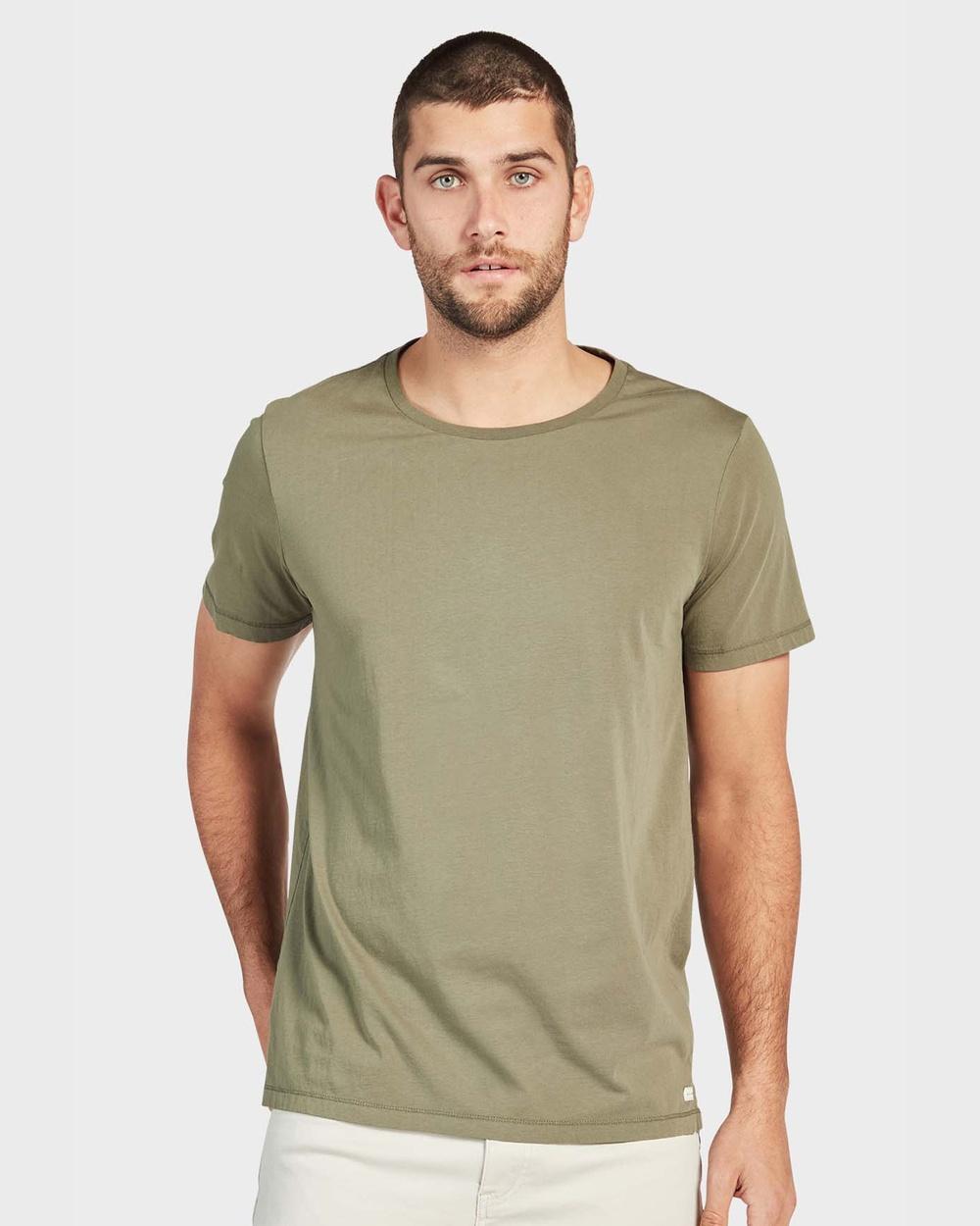Academy Brand Blizzard Wash Tee Shirts & Polos Green