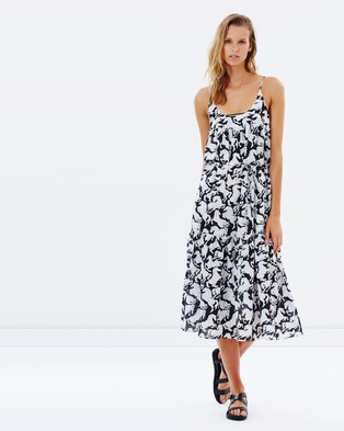 Stella Mccartney Swim – Maxi Dress – Dresses (Black & White Horses Print)