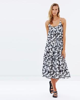 Stella Mccartney Swim – Maxi Dress – Dresses (Black & White Horses Print)